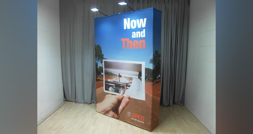 Express Fabric Pop-up Display side view