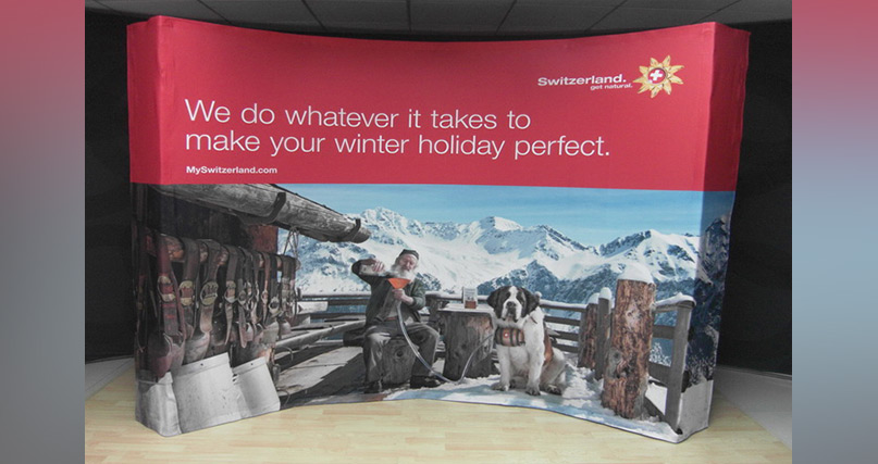 Express Fabric Pop-up Display