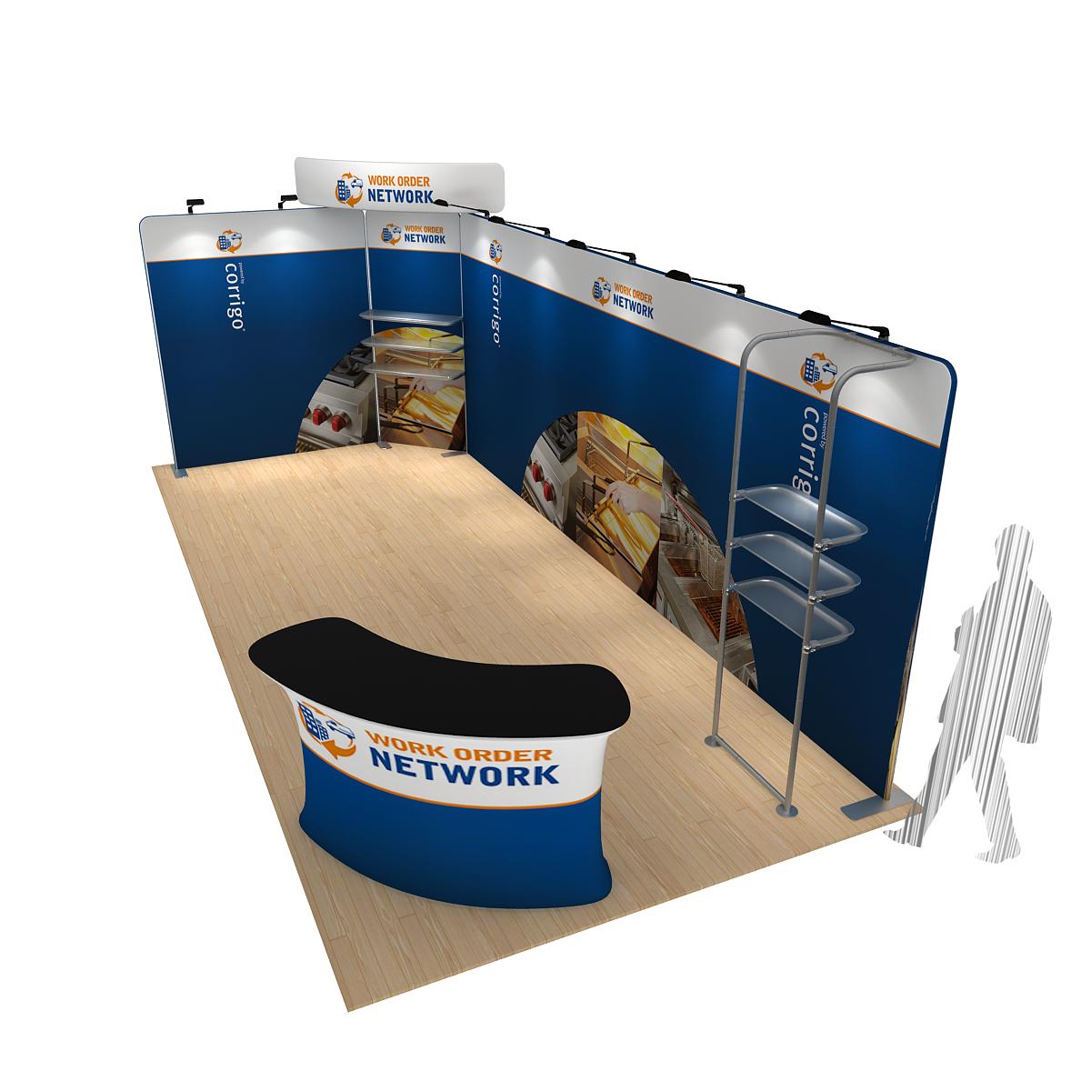 Corner Exhibition Stands Kit : Modular corner display kit modular exhibition stands
