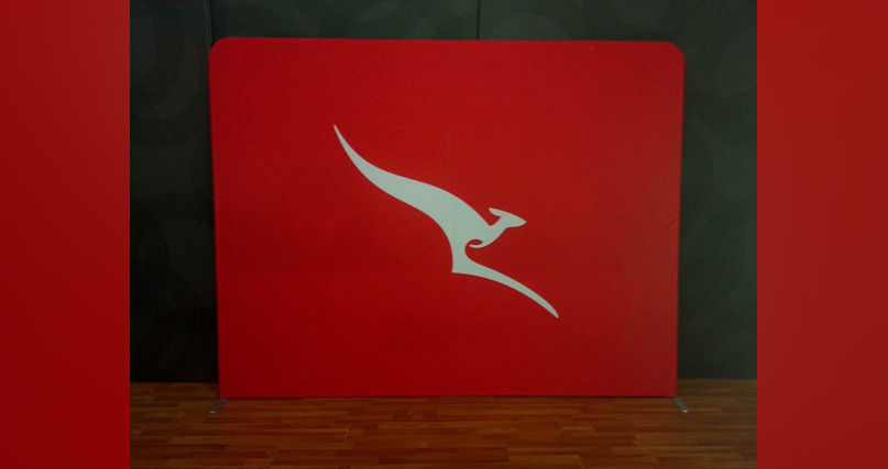 qantas campaign wall rear view